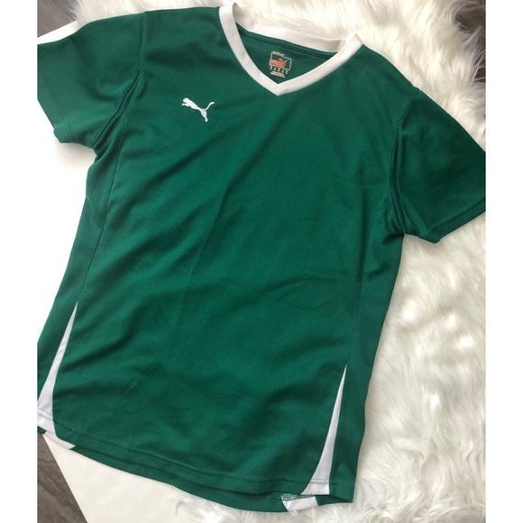 Puma Tops | Green Short Sleeve Shirt